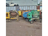 Lister Diesel Concrete mixers. Choice of 4.