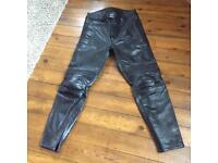 Spada Mens Leather Motorcycle Trousers Size 36