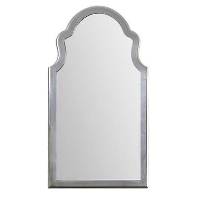 Gorgeous Extra Large SILVER Unusual SHAPED ARCH Wall Mirror Curved Mantle Vanity