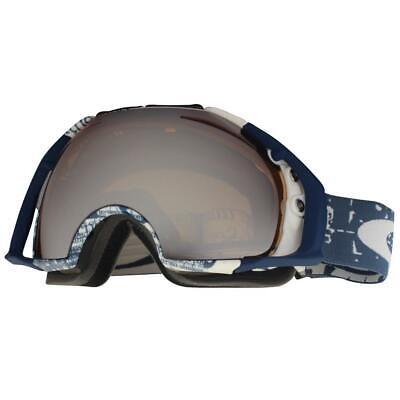 Oakley 59-126 Airbrake Tagline Black Iridium + HI Persimmon Snow Ski Goggles .