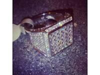 Brand new Real bling silver medusa ring hats bags belts coat watch bike