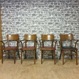 4x FOREIGN Vintage Carver Chairs