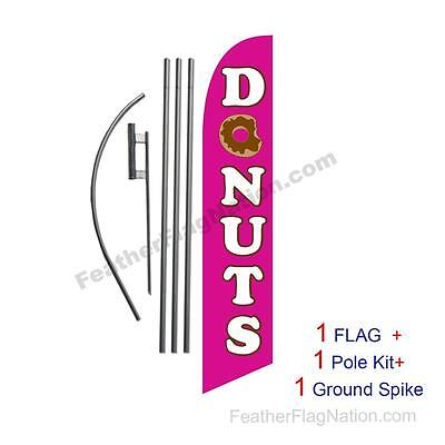 Donuts Feather Banner Swooper Flag Kit With Polespike