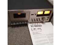 Stereo cassette deck Sony TC 186SD