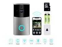 Video Doorbell,Wi-Fi Smart Door Security Camera,8G Card,Motion Detection,IR Night Vision,2-Way Audio