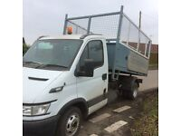 Iveco Daily 35, 2006 – 56 plate. Tipmaster body with built in tool box and alloy sides. 69k miles