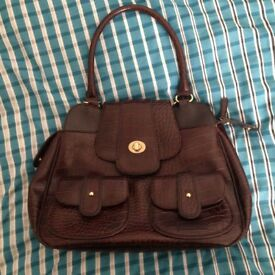 Ted Baker Brown Faux Leather Bag