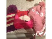 3 girls hats new