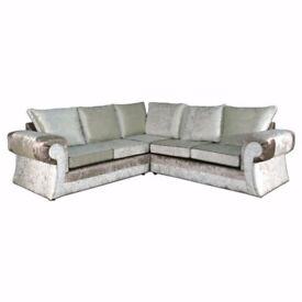 SPECIAL OFFER: BRAND NEW TANGO VELVET/FABRIC SOFAS AT A REDUCED PRICE WITH EXPRESS DELIVERY!!!