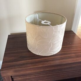 Beige lampshade for ceiling light with beautiful flower detail