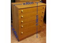 Schreiber chest of drawer in very good condition.