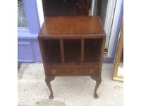 Adorable Vintage Mahogany End Table, Storage Newspaper/Books/Magazine Rack