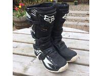 Fox Motocross boots U.K. Size 6