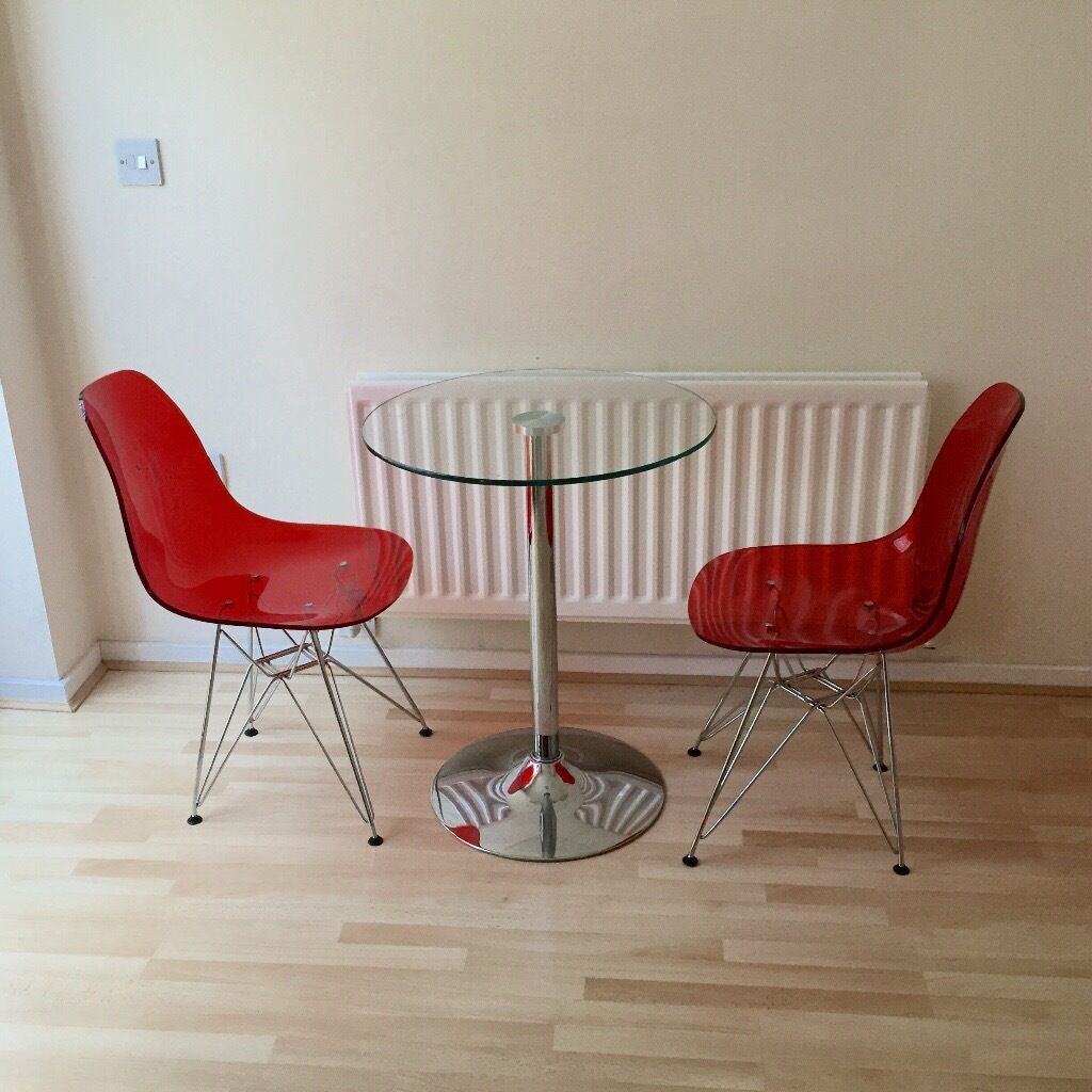 Clear eames dining chair