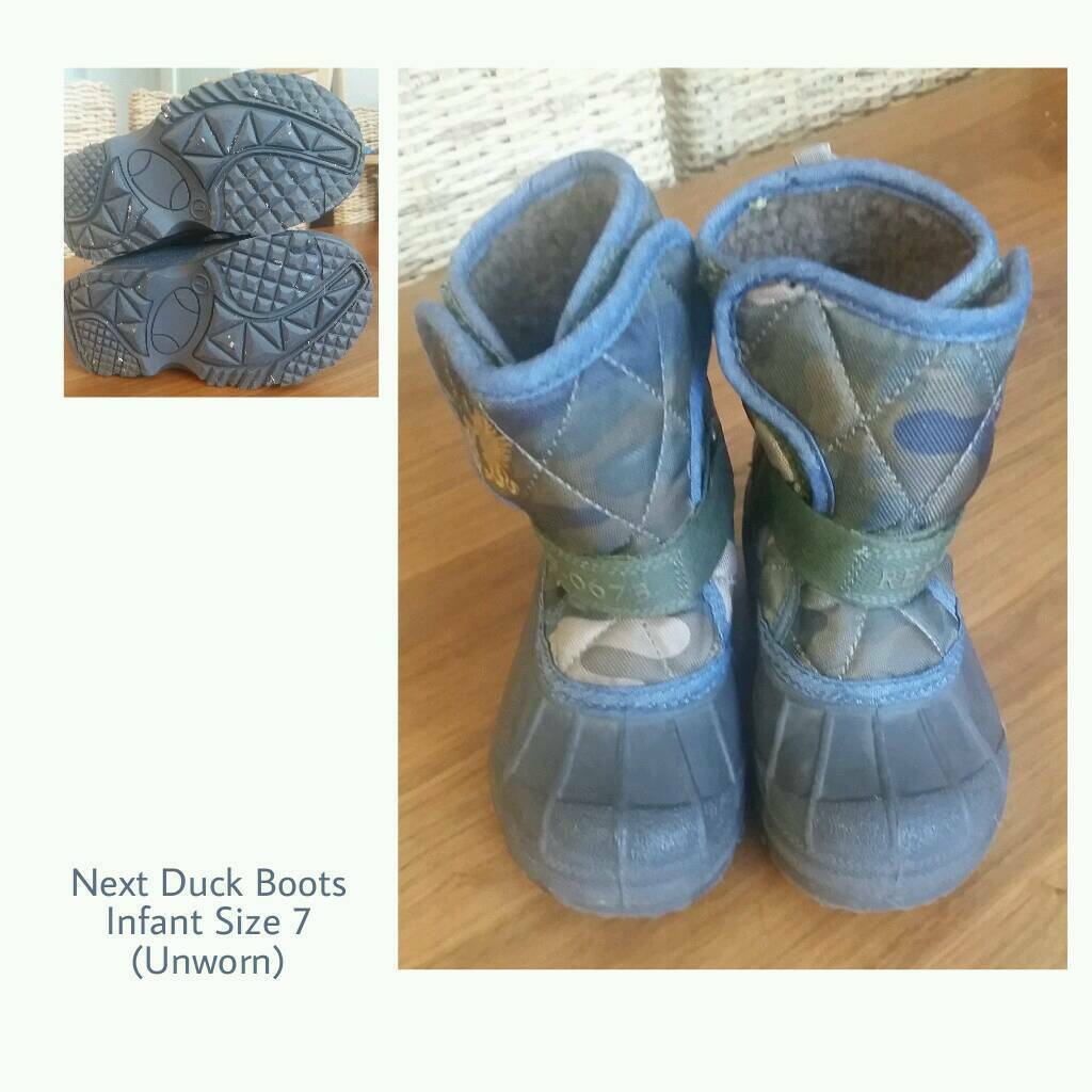 UNWORN: Next Duck Boots | Toddler Size 7 | wellies wellingtons winter waterproof walking