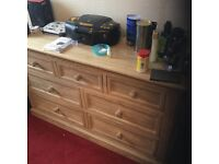 Large oak drawers. As new