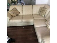 Freebie Leather Sofa cream colour