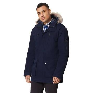 Regatta Salinger Navy Winterjas Heren Size : XL