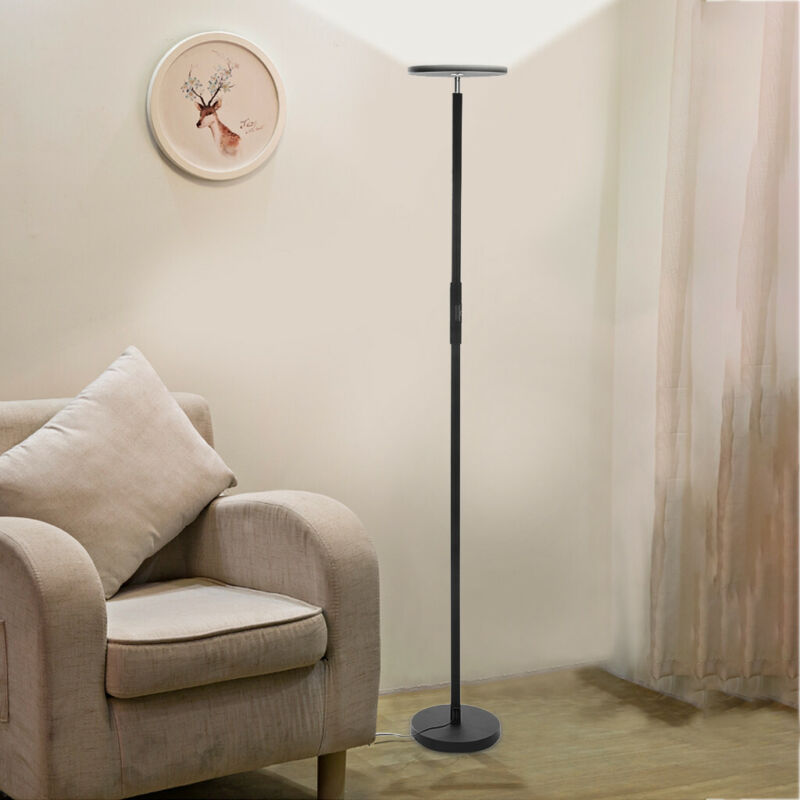 dimmable led floor lamps tall standing modern