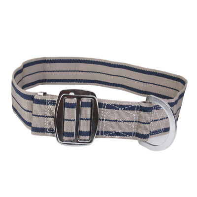 Safety Rock Tree Climbing Harness Belt Equip Tool D-ring Adjustable Grey