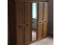 LARGE WARDROBE WITH MIRROR, V, GOOD CONDITION