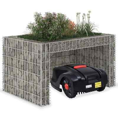 vidaXL Lawn Mower Garage with Raised Bed 110x80x60cm Steel Wire Garden Planter