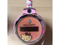 Hello Kitty light up projector wall cock radio