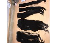 8 piece hair extensions (dark brown)