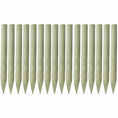 16 pcs Pointed Fence Posts 5x100 cm Wood Garden Rot Resistant Durable New S9Y4
