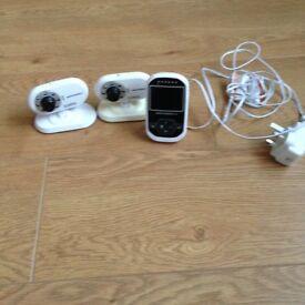Motorola twin baby monitors with camera