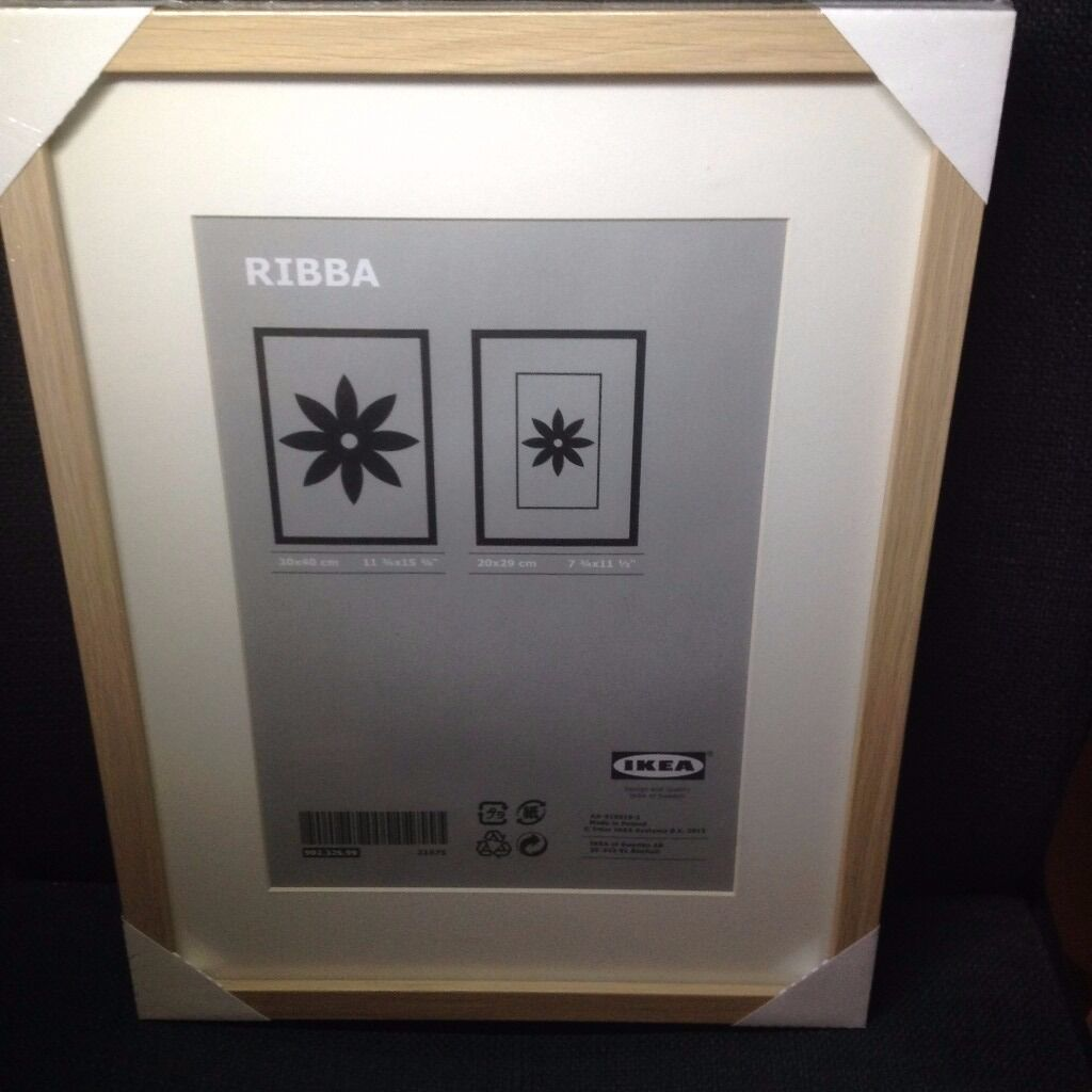 ikea ribba light wood photo frames 30cm x 40cm picture. Black Bedroom Furniture Sets. Home Design Ideas
