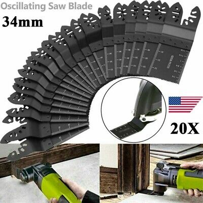 10x 34mm Saw Blade Oscillating Multi Tool Bi-metal For Fein Makita Multimaster