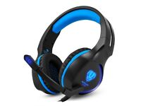 Gaming Headset Over-Ear Headset Noise Cancelling Wired Headset with Mic and LED Light