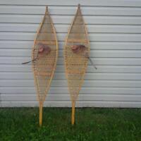 Vintage Ojibway Snowshoes