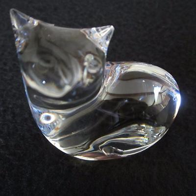 BACCARAT CRYSTAL - SITTING CAT - MADE IN FRANCE