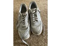 Grey Nike Air Force one trainers