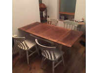 Vintage look Laura Ashley Dining Table and 4 Chairs
