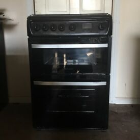 Hotpoint gas cooker DSG60K 60cm black FSD double oven 3 months warranty free local delivery!!!!