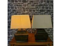 Metal BaseTable Lamps, 1 pair. Parex