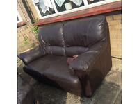 3 seater and 2 seater dark brown sofas FREE