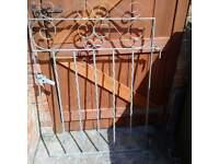 Metal Garden Gate 29 x 43 inches
