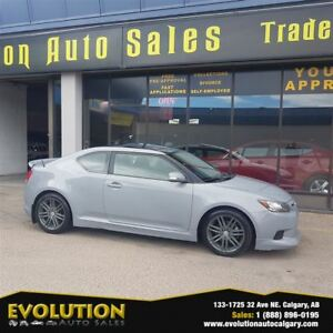 2011 Scion tC REDUCED, 53,463 KM 6 SPEED PANA ROOF FINANCING
