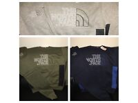 Men's THE NORTH FACE Tracksuit - Slim Fit - Hoodless - Sweatshirt and Bottoms - 3 colours