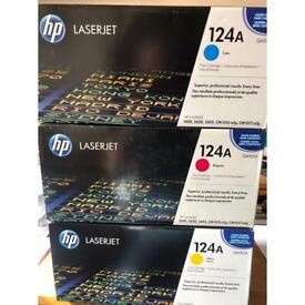 HP Ink 124A Q6001A / Q6002A / Q6003A Colour cartridges