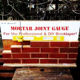 mortar joint gauge simple tool to ensure the correct bed joint on brickwork
