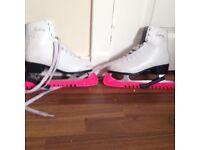 White figure skates size 4