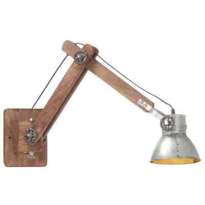 vidaXL Lámpara de Pared Redonda Estilo Industrial Plateada E27 Techo Luz Salón