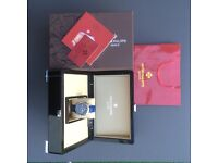 Patek Phillipe Stars and Moon with Silver Casing Blue Face and Blue Leather strap comes Boxed