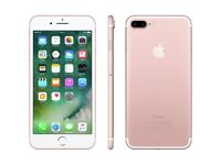 IPHONE 7 PLUS ROSE GOLD 32GB brand new EE network