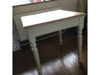 Small shabby shic kitchen table